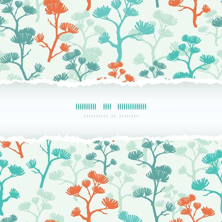 Abstract oriental trees torn frame seamless pattern background Stock Vector - 17835757