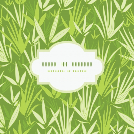 Bamboo branches frame seamless pattern background Vector