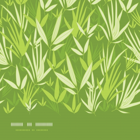 Bamboo branches horizontal seamless pattern background Vector