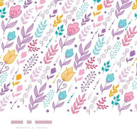 Tulip field flowers horizontal seamless pattern background Stock Vector - 17835760