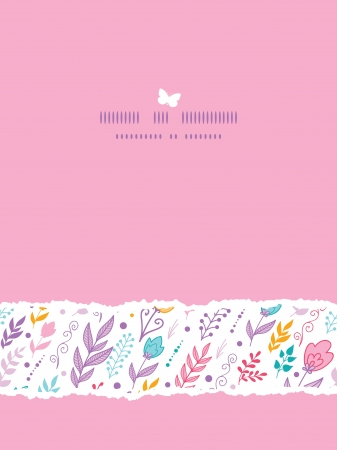 Tulip field flowers vertical template seamless background Vector
