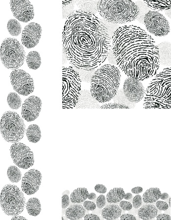Finger print texture seamless pattern backgrounds set