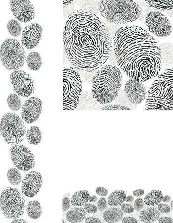 Finger print textuur naadloze patroon achtergronden instellen