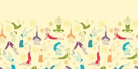 운동 피트니스 소녀 가로 원활한 패턴 배경