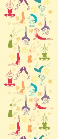 Workout fitness meisjes verticale naadloze patroon achtergrond