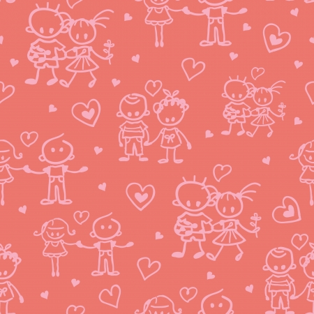 Couples in love seamless pattern background Vector
