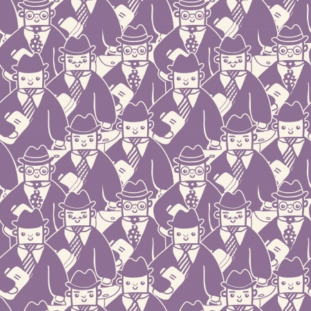 anonymity: Businessmen in a group seamless pattern background