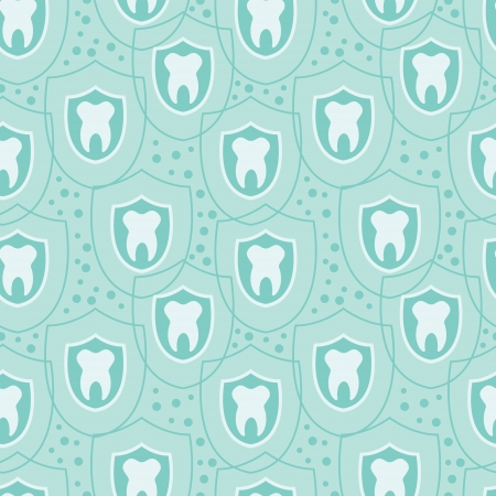 Healthy teeth seamless pattern background