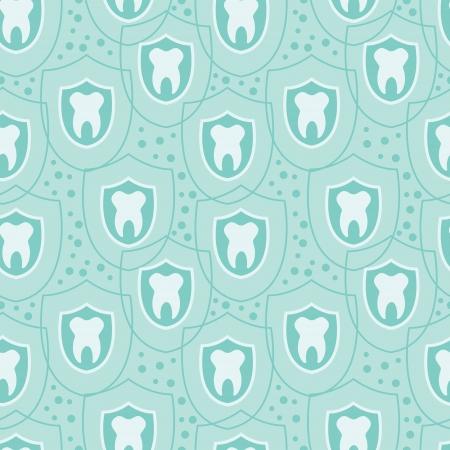 Gezonde tanden naadloze patroon achtergrond