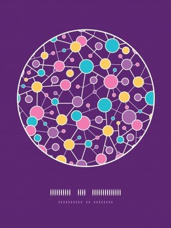 Molecular Structure Circle Seamless Pattern background Çizim
