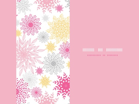 Abstract floral vignettes horizontal seamless pattern background Stock Vector - 18011830