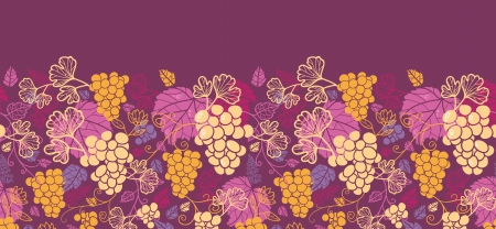 Sweet grape vines horizontal seamless background border raster Stock Photo - 18011838