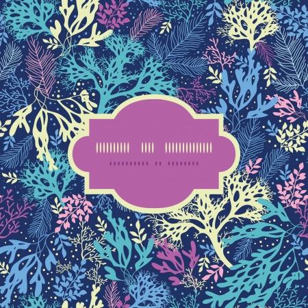 수중 해초 프레임 원활한 패턴 배경 일러스트