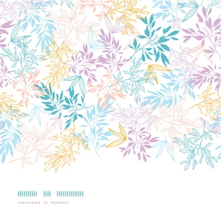 Colorful pastel branches horizontal seamless pattern background Stock Vector - 18011835