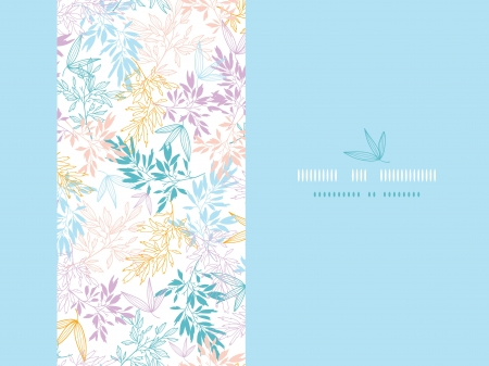 Colorful pastel branches horizontal card seamless background Stock Vector - 18116411