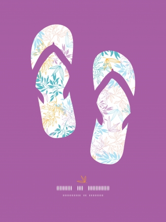 growth: Colorful pastel branches flip-flops decor pattern background