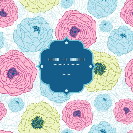 Lovely flowers frame seamless pattern background Stock Vector - 18166827