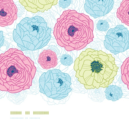 Lovely flowers vertical seamless pattern background Stock Vector - 18166825