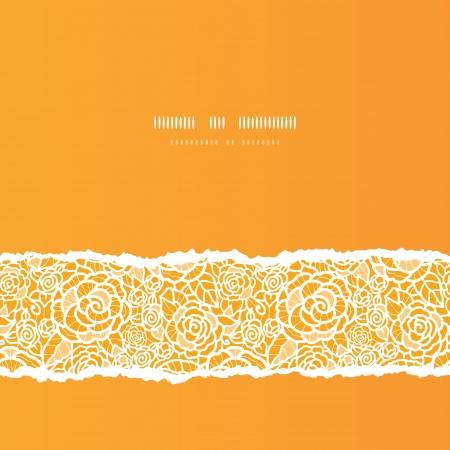 Gouden kant rozen verscheurd vierkant naadloze patroon achtergrond