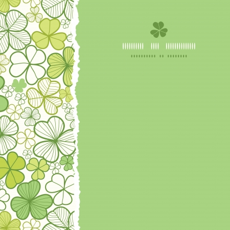 Clover line art square torn seamless pattern background Vector