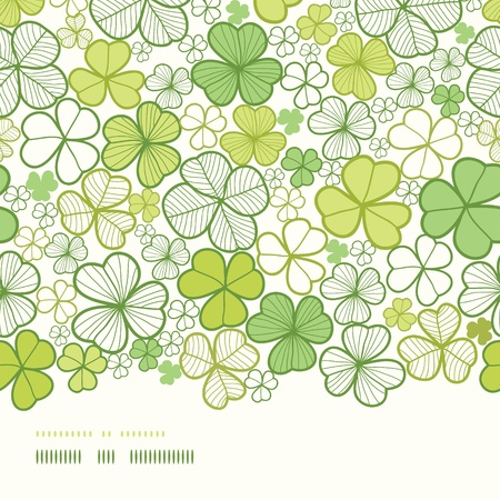 Clover line art horizontal decor seamless pattern background Vector
