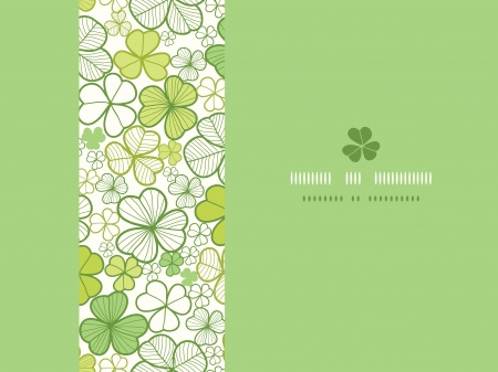 Clover line art horizontal seamless pattern background Vector