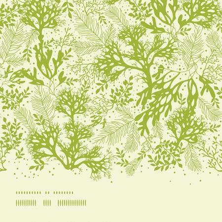 Groen water zeewier horizontaal naadloze patroon achtergrond