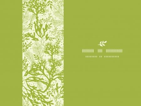 Groen onderwater zeewier horizontale naadloze patroon achtergrond Stock Illustratie