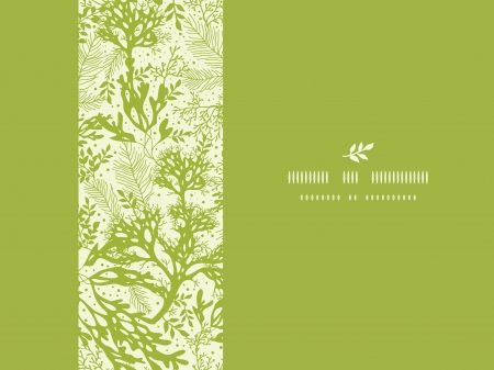 algas marinas: Verde algas bajo el agua horizontal de fondo sin fisuras patrón Vectores
