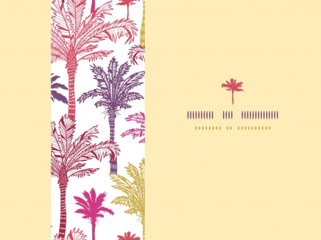 Palm trees seamless horizontal decor pattern background Vector