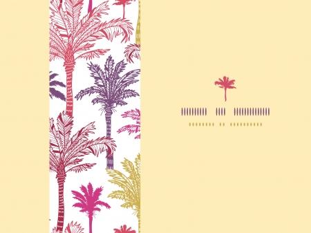 horizontal: Palm trees seamless horizontal decor pattern background