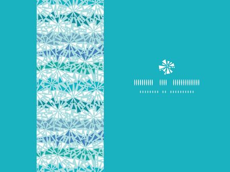 Abstract ice chrystals texture horizontal seamless pattern background Illustration