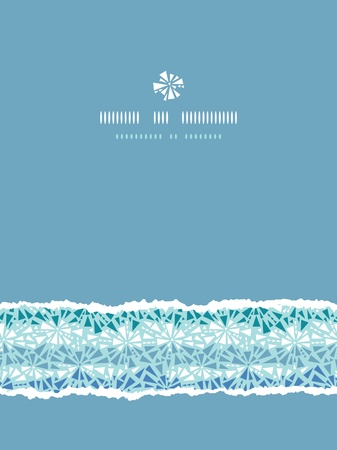 Abstract ice chrystals texture vertical torn seamless pattern background Vector