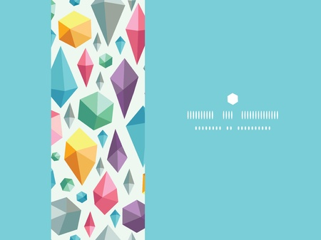 hanging geometric shapes horizontal decor seamless pattern background Vector