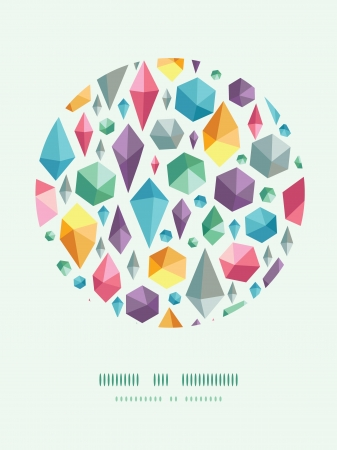 hanging geometric shapes circle decor pattern background Vector
