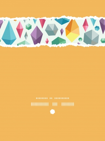 hanging geometric shapes vertical torn seamless pattern background Vector