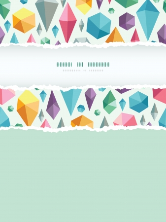 hanging geometric shapes vertical torn frame seamless pattern background Vector