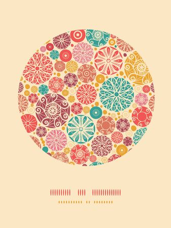 Abstract decorative circles oval decor pattern background Stock Vector - 18865180