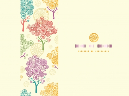 Colorful abstract trees horizontal seamless pattern background Stock Vector - 18865182