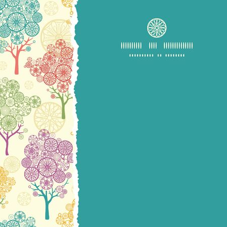 Colorful abstract trees square torn seamless pattern background Vector