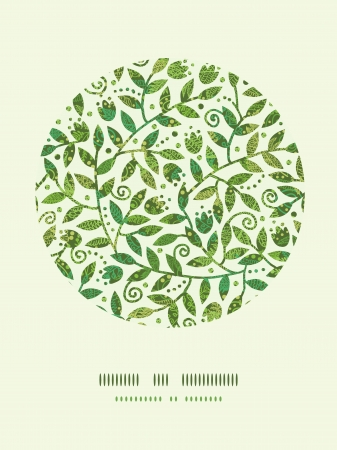 Textured Colorful Branches Circle Decor Pattern Background