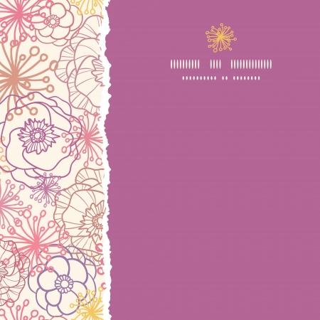 Subtle field flowers square torn seamless pattern background Stock Illustratie