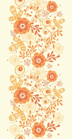 Golden florals vertical border seamless pattern background Stock Vector - 19278279