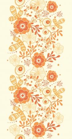 Golden florals vertical border seamless pattern background Stock Vector - 19278279