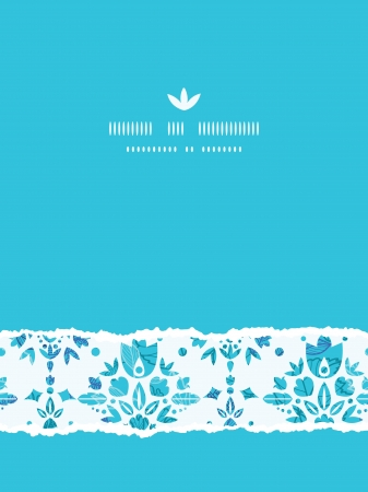 Abstract Flower Damask Vertical Torn Seamless Pattern Background Vector