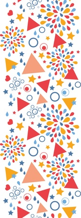 Abstract celebration vertical seamless pattern background Stock Vector - 19576146