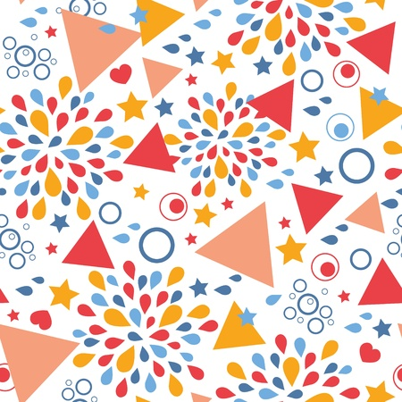 Abstract celebration seamless pattern background Stock Vector - 19576147