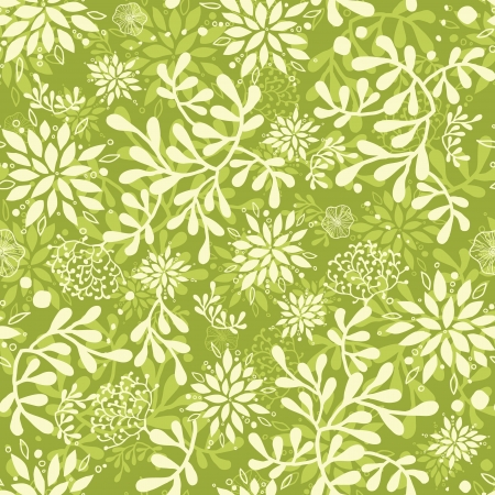 Green underwater plants seamless pattern background Illustration