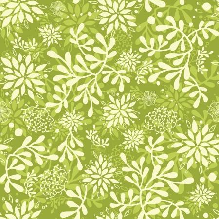 Green underwater plants seamless pattern background Vectores