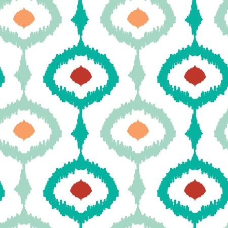 Colorful chain ikat seamless pattern background